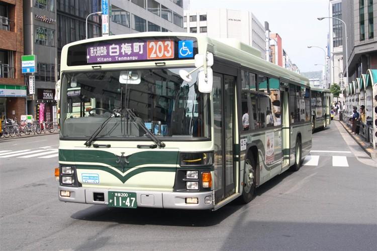京都市バス 京都200か1147 いすゞPJ-LV234N1