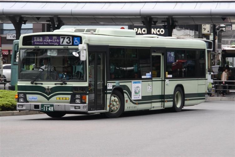 京都市バス 京都200か1148 いすゞPJ-LV234N1