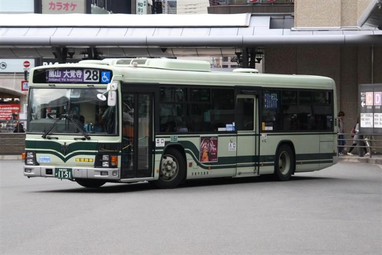 京都市バス 京都200か1151 いすゞPJ-LV234N1