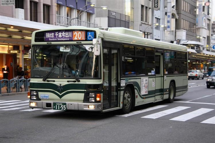 京都市バス 京都200か1155 いすゞPJ-LV234N1