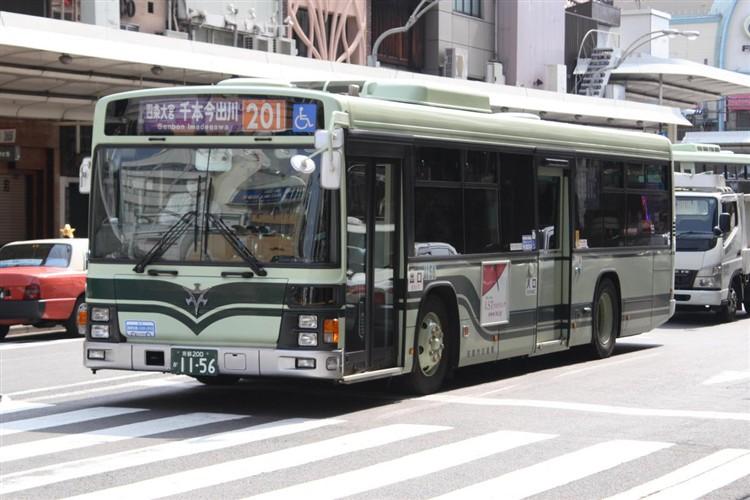 京都市バス 京都200か1156 いすゞPJ-LV234N1