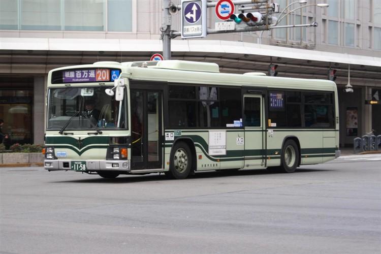京都市バス 京都200か1158 いすゞPJ-LV234N1