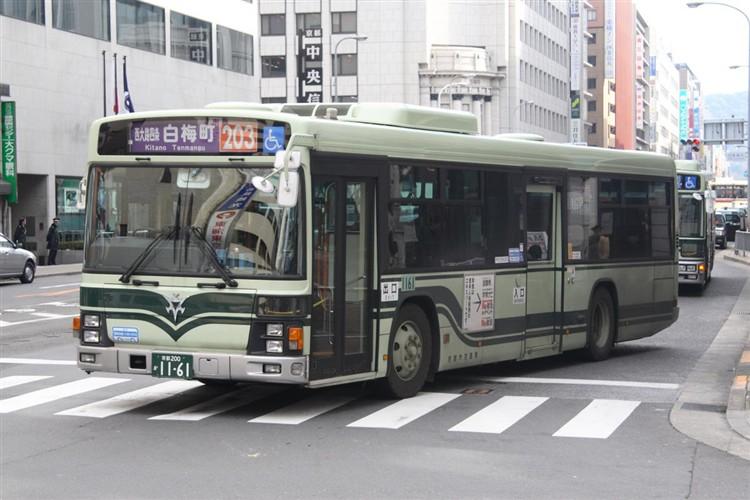 京都市バス 京都200か1161 いすゞPJ-LV234N1