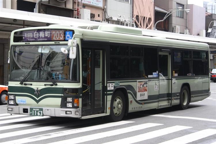 京都市バス 京都200か1163 いすゞPJ-LV234N1