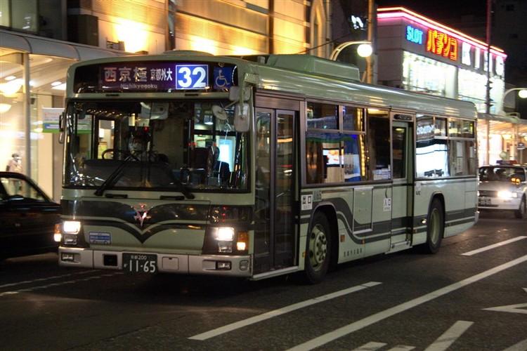 京都市バス 京都200か1165 いすゞPJ-LV234N1