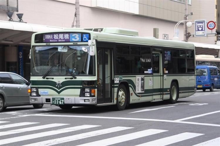 京都市バス 京都200か1167 いすゞPJ-LV234N1