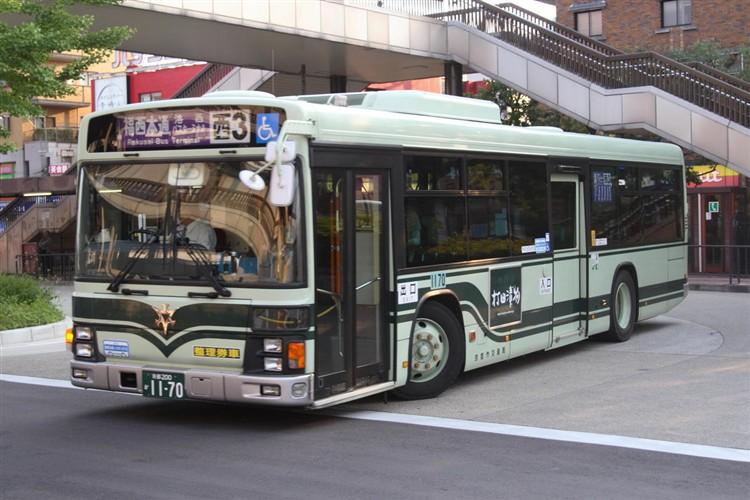 京都市バス 京都200か1170 いすゞPJ-LV234N1