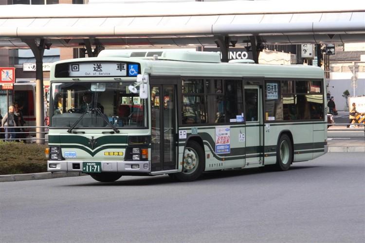 京都市バス 京都200か1171 いすゞPJ-LV234N1