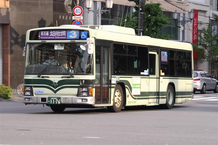 京都市バス 京都200か1176 いすゞPJ-LV234N1