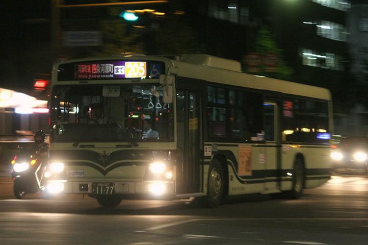 京都市バス 京都200か1177 いすゞPJ-LV234N1