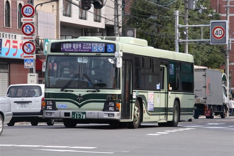 京都市バス 京都200か1178 いすゞPJ-LV234N1