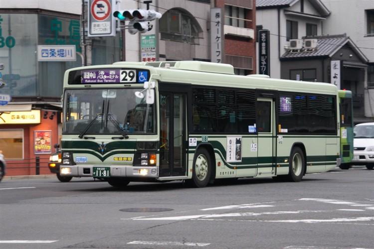 京都市バス 京都200か1181 いすゞPJ-LV234N1