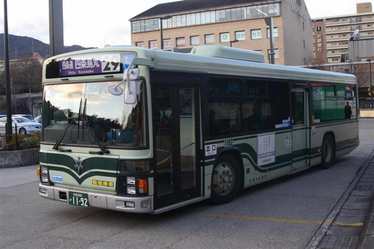 京都市バス 京都200か1192 いすゞPJ-LV234N1