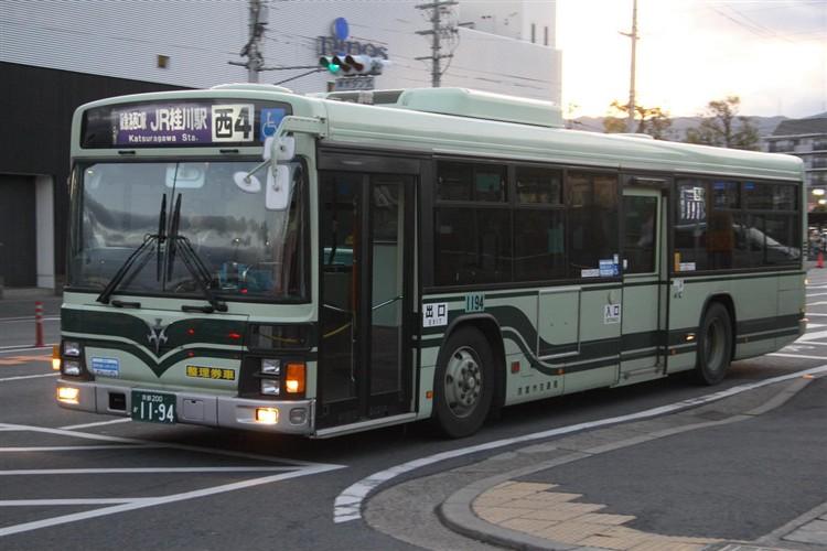京都市バス 京都200か1194 いすゞPJ-LV234N1