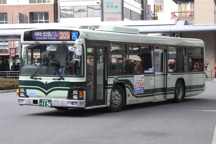 京都市バス 京都200か1196 いすゞPJ-LV234N1