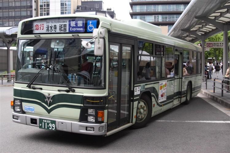 京都市バス 京都200か1199 いすゞPJ-LV234N1