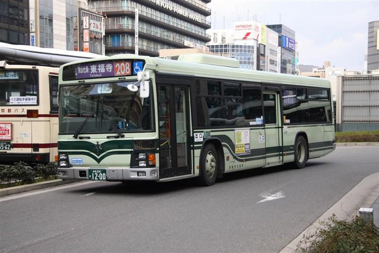 京都市バス 京都200か1200 いすゞPJ-LV234N1