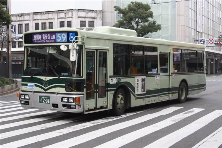 京都市バス 京都200か1206 いすゞPJ-LV234N1
