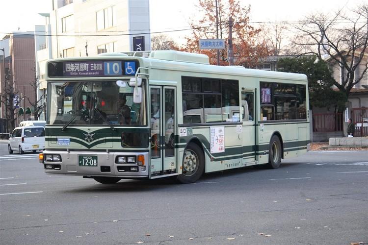 京都市バス 京都200か1208 いすゞPJ-LV234N1