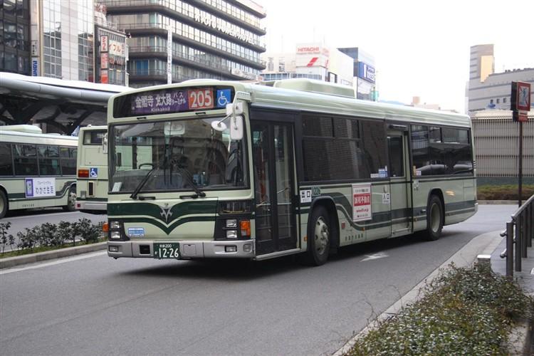 京都市バス 京都200か1226 いすゞPJ-LV234N1