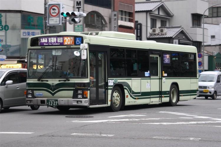 京都市バス 京都200か1227 いすゞPJ-LV234N1