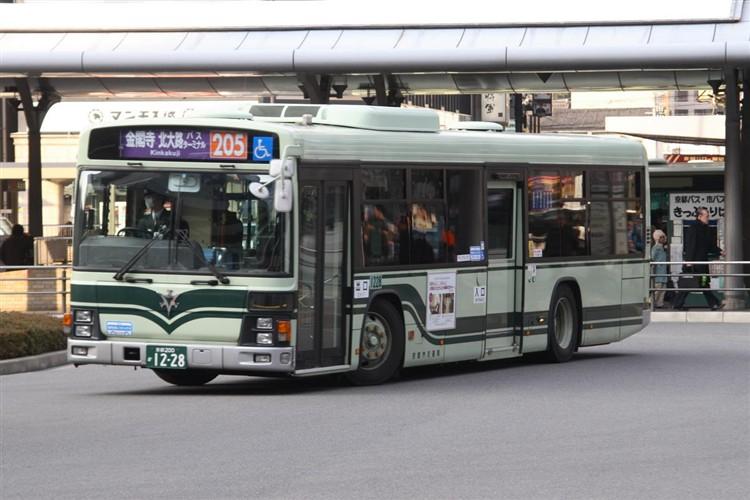 京都市バス 京都200か1228 いすゞPJ-LV234N1