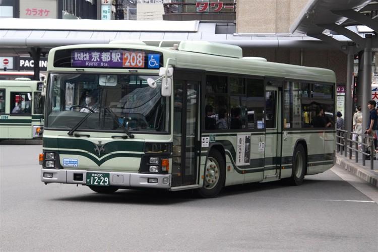 京都市バス 京都200か1229 いすゞPJ-LV234N1