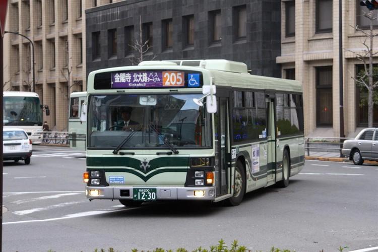京都市バス 京都200か1230 いすゞPJ-LV234N1