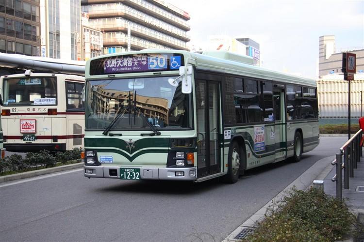 京都市バス 京都200か1232 いすゞPJ-LV234N1