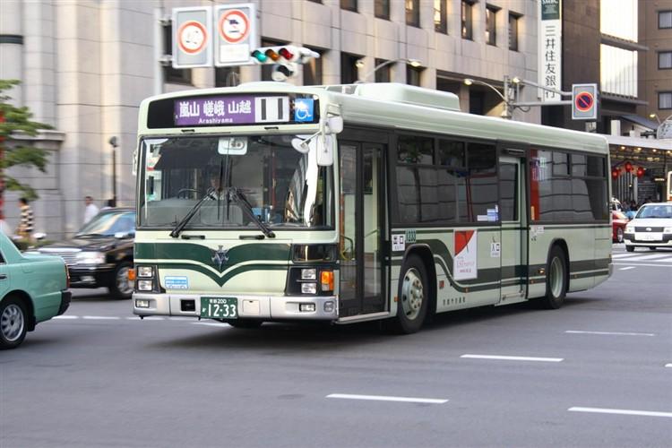 京都市バス 京都200か1233 いすゞPJ-LV234N1