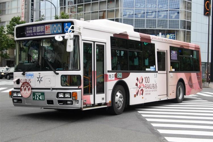 京都市バス 京都200か1241 いすゞPJ-LV234N1