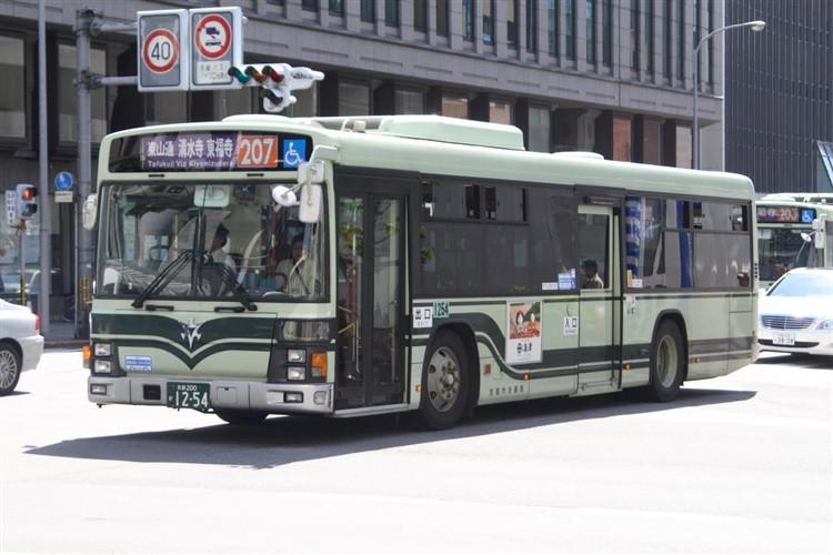 京都市バス 京都200か1254 いすゞPJ-LV234N1