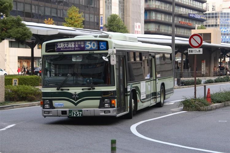 京都市バス 京都200か1257 いすゞPJ-LV234N1