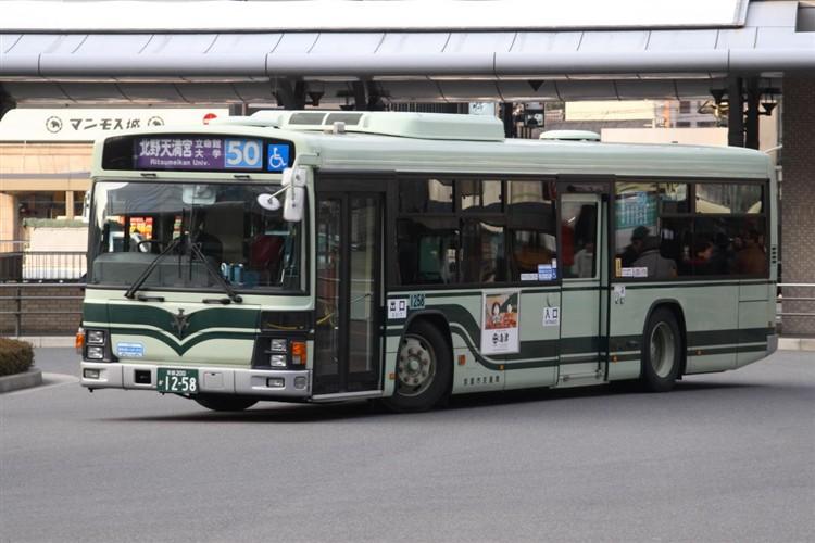 京都市バス 京都200か1258 いすゞPJ-LV234N1
