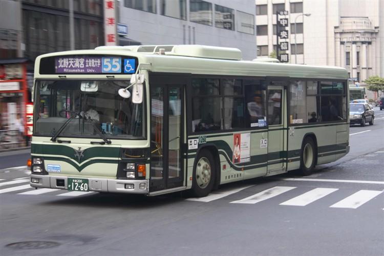 京都市バス 京都200か1260 いすゞPJ-LV234N1