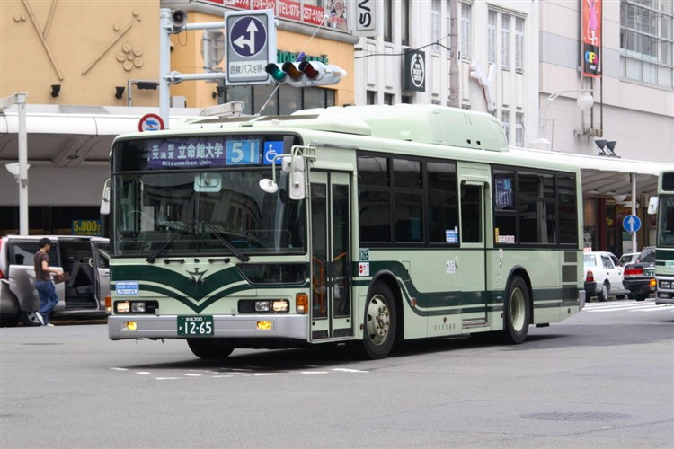京都市バス 京都200か1265 三菱KL-MP37JK改(CNG車輌)