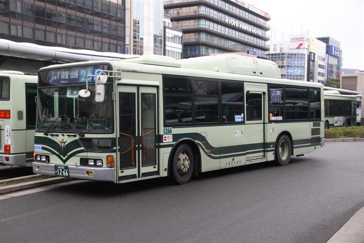 京都市バス 京都200か1266 三菱KL-MP37JK改(CNG車輌)