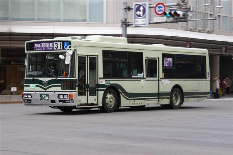 京都市バス 京都200か1384 いすゞPJ-LV234L1