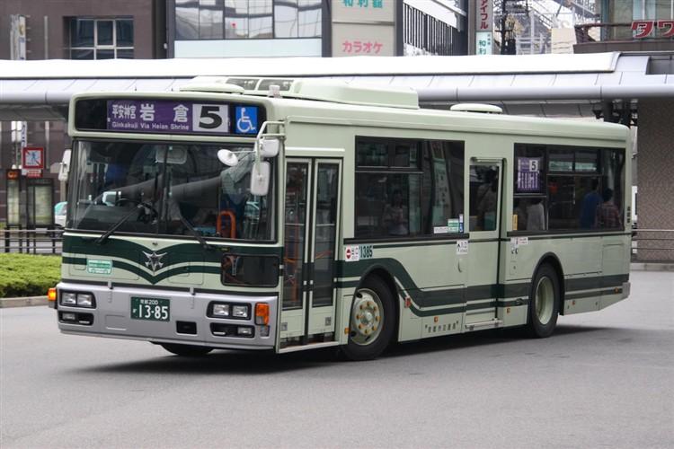 京都市バス 京都200か1385 いすゞPJ-LV234L1