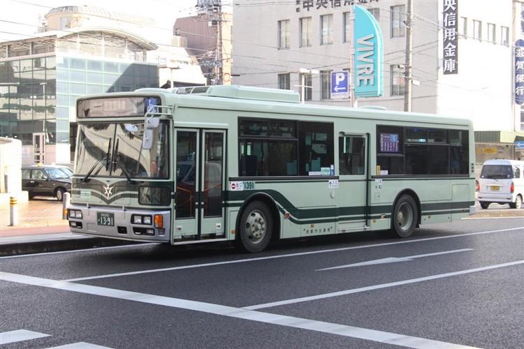 京都市バス 京都200か1391 いすゞPJ-LV234L1