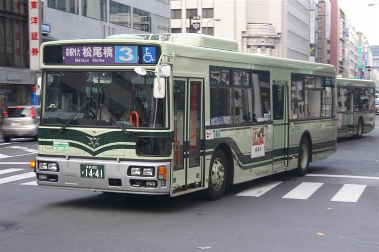京都市バス 京都200か1441 日野PJ-KV234N1
