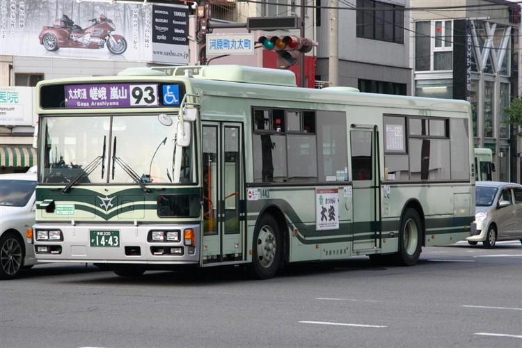 京都市バス 京都200か1443 日野PJ-KV234N1