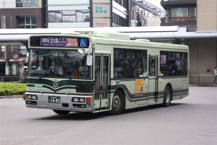 京都市バス 京都200か1445 日野PJ-KV234N1