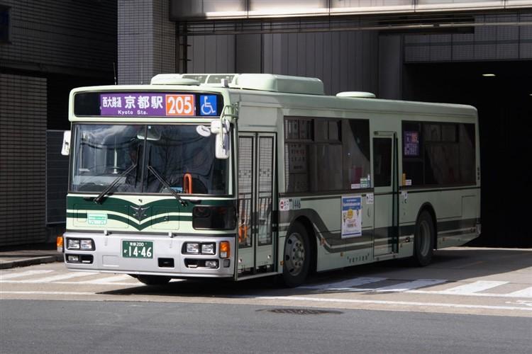 京都市バス 京都200か1446 日野PJ-KV234N1