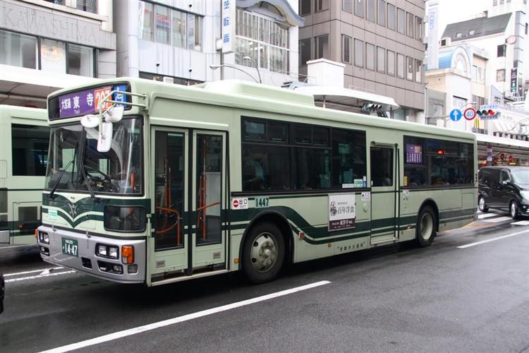 京都市バス 京都200か1447 日野PJ-KV234N1