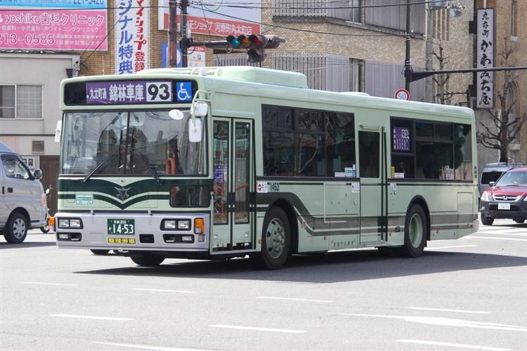 京都市バス 京都200か1453 日野PJ-KV234N1