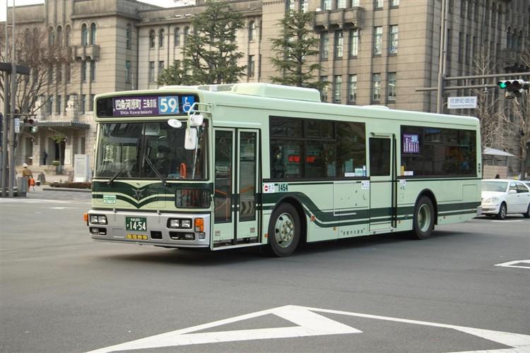 京都市バス 京都200か1454 日野PJ-KV234N1