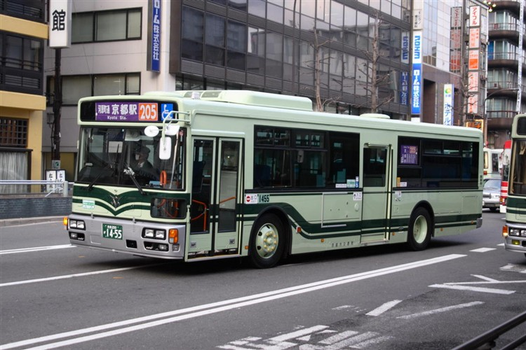 京都市バス 京都200か1455 日野PJ-KV234N1