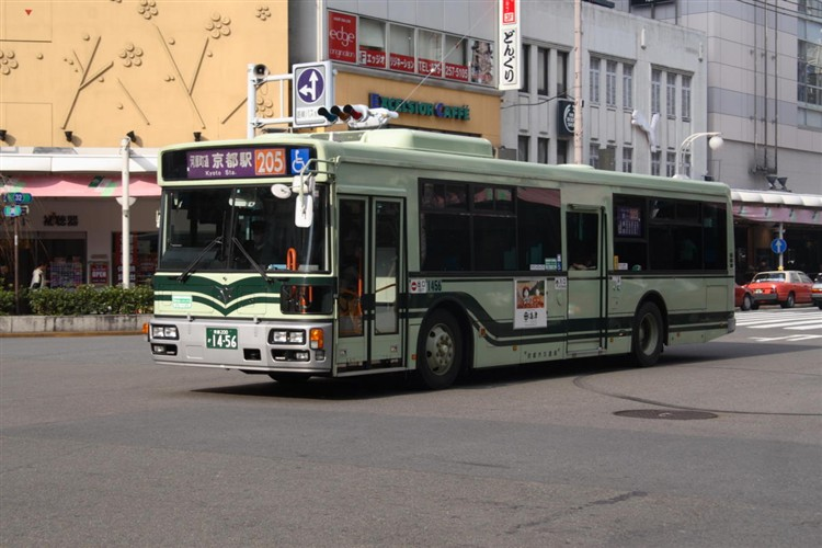 京都市バス 京都200か1456 日野PJ-KV234N1