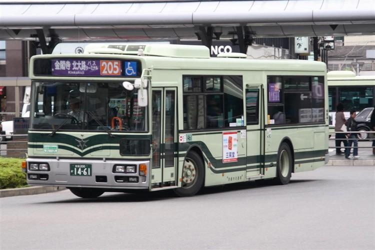 京都市バス 京都200か1461 日野PJ-KV234N1
